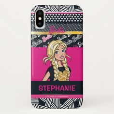 Barbie | Modern Doll Chevron Pattern iPhone X Case - kids kid child gift idea diy personalize design