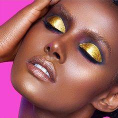 Pharoah's dream ✨ makeup by @danessa_myricks using @cozzette, @ajcrimson…