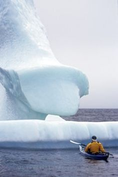 Newfoundland Icebergs - Sea Kayaking is one of my favourite things to do! Newfoundland Icebergs, Newfoundland Canada, Newfoundland And Labrador, Oh The Places You'll Go, Great Places, Places To Visit, Kayak Adventures, Ocean Sounds, O Canada