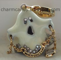 Design your own photo charms compatible with your pandora bracelets. Juicy Couture ghost charm ~ Want it :-( Charm Jewelry, Diy Jewelry, Jewlery, Pandora Bracelets, Pandora Charms, Halloween Jewelry, Halloween Town, Cool Keychains, Juicy Couture Charms
