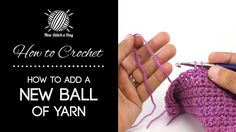 This video crochet tutorial will help you learn how to a new ball of yarn to your project. This simple technique can be used to both add a new ball of yarn when you run out, or to change your color during a project. You think you already know right?? watch the video! ;-)