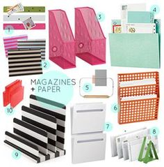 30 Great Home Office Organizing Tools via Design*Sponge sexy office supplies!