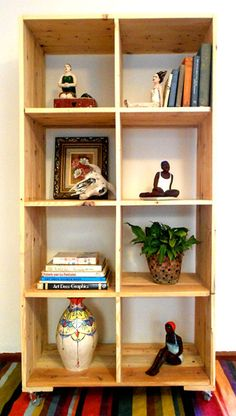 Pallets - movable storage unit made from recycled pallet wood by jasper & george. All ceramics in photographs by Maureen Visage