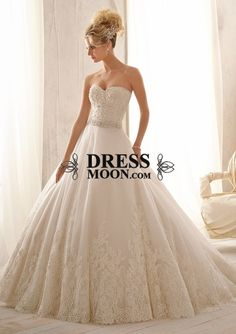 I like this - Gorgeous Satin Tulle Sweetheart Neckline Natural Waistline A-line Lace Wedding Dress. Do you think I should buy it?