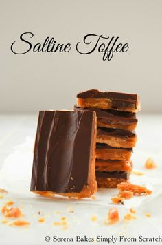 Saltine Toffee so easy to make and delicious!