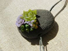 Succulents collection by Chama Navarro. #bijoux #jewerly #succulents #pendant #polymer_clay