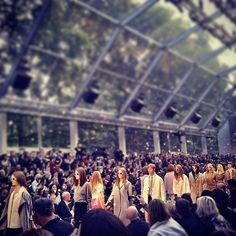 Rose petals falling on the Burberry finale.