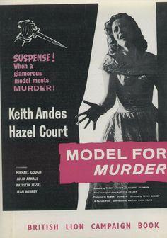 Model for Murder Souvenir Film Brochure British Crime Hazel Court Keith Andes British Lions, Crime, Cinema, Movie, Film, Souvenir, Movies, Films, Film Stock