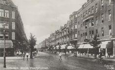 Grote visserijstraat, met links de mathenesserdijk 1935