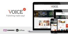 Voice v1.5.2  Clean News/Magazine WordPress Theme Free at DLEWordPRess