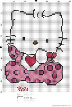 Baby Hello Kitty Hama Perler Bead Pattern