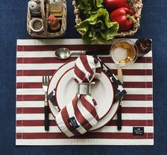 American Summer, table setting for 4th of Juy