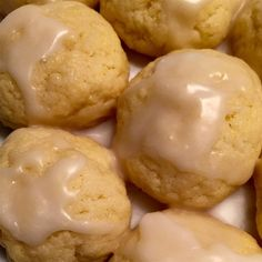 "Lemon Pound Cake Cookies I ""Really nice and soft and fluffy. I added a lemon glaze, and they were liked by my kids and guests alike."""