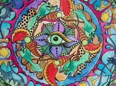 The Psychedelic Promise Singleton Hippie Art by justgivemepeace, $95.00