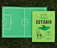 Caderno Estádio, Serrote http://casaruim.com/produto/caderno-estadio/