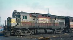 Canadian Pacific is seen here laying over between assignments at hte St. Luc Yard in Montreal, Quebec on March Roger Puta photo. Via Rail, Canadian Pacific Railway, Old Gas Stations, New York Central, Great Western, Montreal Quebec, Upper Peninsula, Picture Logo, Train Journey