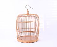 Vintage Bamboo Birdcage by Yesterdayand2day on Etsy, $129.00