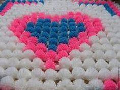 loom board pom pom blanket part 1 - YouTube