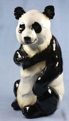 Rießiger Panda figur porzellan tierfigur porzellanfigur hutschenreuther bär