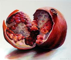 My GCSE art topic is openings. I am looking at fruit and was inspired by Kamille Saabre's work. Does anyone have any ideas for a final piece to do with this painting of Kamille Saabre's. Please leave a comment with any ideas, thanks.