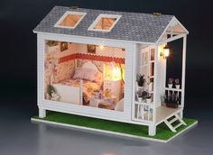 ♥ With lights! ♥ ♥ ♥ This DIY dollhouse is a great crafting project!. This pack comes with a step-by-step illustrated manual for every step of the