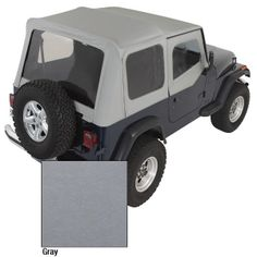 The PreOwned Jeep Store - XHD Soft Top, Charcoal, Clear Windows, 88-95 Jeep Wrangler (YJ), $475.03 (http://www.buyjeeppartsonline.com/jeep-xhd-soft-top-charcoal-clear-windows-88-95-jeep-wrangler-yj/)