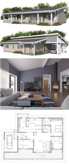 Casa pequena, planta de casa, projeto de casa.
