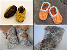 Crochet Slippers -- Free Patterns: Baby Slippers