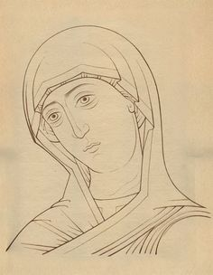 учебная прорись Religious Images, Religious Icons, Religious Art, Painting Process, Painting Techniques, Paint Icon, Russian Icons, Byzantine Icons, Orthodox Icons