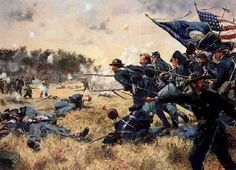 First Minnesota at Gettysburg, by Don Troiani  http://www.ng.mil/resources/photo_gallery/heritage/images/firstminnesota.jpg