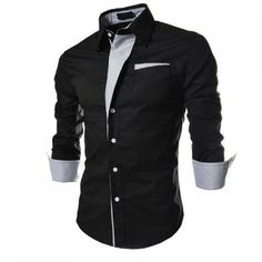striped shirt men long sleeve 2016 brand new casual shirt chemise for men slim fit tuxedo shirt camisa masculina size Rugged Style, Style Men, Formal Shirts, Casual Shirts, Stylish Shirts, Stylish Clothes, Style Brut, Chemise Fashion, Slim Fit Tuxedo