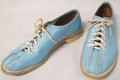 Blue & White Bowling Shoes / Vintage 60s by RiverCityRemains