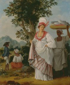 Agostino Brunias, 1728-1796, Italian, active in Britain (1758-1770; 1777-1780s), West Indian Creole woman, with her Black Servant, ca. 1780, Oil on canvas, Yale Center for British Art, Paul Mellon Collection