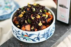 Black Venus Rice Salad with Roasted Sweet Potatoes and Pistachios