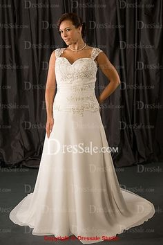 Graceful Wide Straps Bridal Gowns In Plus Size
