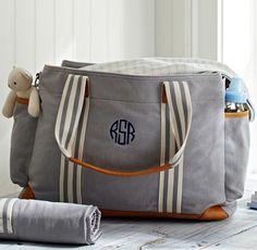 grey classic diaper bag