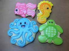 Baby Shower Ocean Animal Cookies