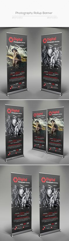 Photography Rollup Banner Template PSD. Download here: http://graphicriver.net/item/photography-rollup-banner/16564682?ref=ksioks