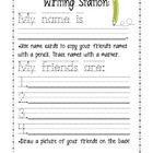 I use this sheet at my Writing Station when we are doing our All About Me/ Names Unit at the beginning of the year. I put copies of this sheet, alo...