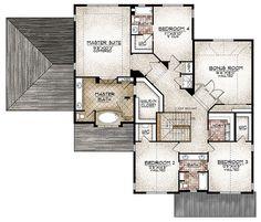second floor — The Westcliffe: Gracious Spaces (Sopris Homes) [1,935 main floor sq. ft., 2,250 upper floor sq. ft, 80 basement finished sq. ft. / 1,480 basement unfinished sq. ft.; 4 bedrooms, 3.5 baths, study, home center, 3-car garage]
