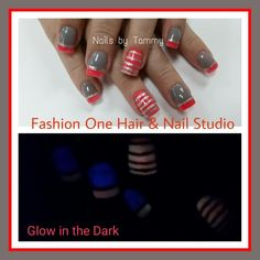 Glow in the dark nails  #nailsbytammy #glowinthedark