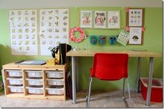 home school room with linky party to others