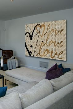 Love Trio Canvas Wall Art by Marmont Hill Inc. on @HauteLook