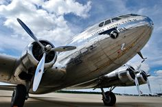 """The Boeing 307 Stratoliner first flew on December 31, 1938. It was the first airliner with a pressurized fuselage.  The """"Clipper Flying Cloud,"""" now on display at the Udvar-Hazy Center, is the last intact Boeing 307 Stratoliner."""