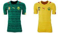 Camisa de la Copa Mundial 2014 de Camerún