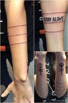 """twentyone-winchesters: """"New tattoo for the best band I will ever know  -/ """""""