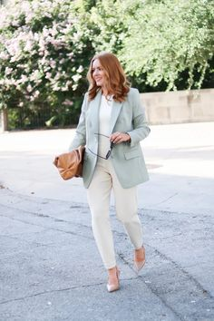 Start Transitioning Your Workwear With This Fall Inspired Blazer - Oh What A Sight To See Summer Work Wear, Autumn Summer, Fall, Cute Work Outfits, Full Look, New Wardrobe, Autumn Inspiration, Work Pants
