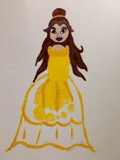 Belle Beauty and the Beast Kids Footprint craft