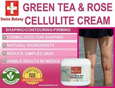 GREEN TEA & ROSE CELLULITE CREAM - Swiss Botany Green Tea & Rose Cellulite Remover A body firming serum specifically formulated for shaping, contouring and firming the body. May help maintain the appearance of toned smooth looking skin. Coconut Oil Cellulite, Cellulite Scrub, Cellulite Cream, Pure Green Tea, Sugar Scrub Recipe, Look In The Mirror, Tea Roses, Stretch Marks, How To Do Yoga