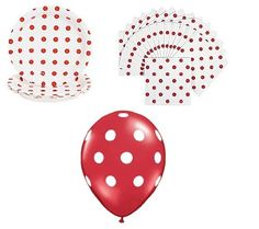 Red and white polka dot party supplies: http://www.zujava.com/great-red-and-white-polka-dot-party-supplies